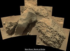 Mars Rover: Blocks at Bimbe (PaulH51) Tags: rightmastcamera malinspacesciencesystems msss mosaic curiosityrover msl mars planetmars nasa jpl caltech galecrater lewisandclarktrail science exploration discovery geology rocks murraybuttes bimbe enhanced msice