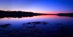 Feeling blue (VB31Photo) Tags: blue sunset lake france reflection beach nature water landscape lac peaceful hossegor reflet zen hour heure bleue waterscape landes aquitaine vb31photo