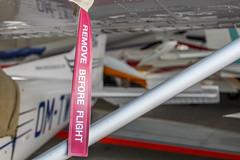 Ribbon, remove before flight (mszucs) Tags: safety aviation airplane redribbon hangar plane aircraft cessna cessna172 sportaircraft
