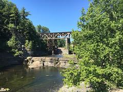 Two Railroad Bridges (hbickel) Tags: bridge bridges railroadbridges reflection trees normanskill
