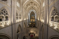 Central nave, Flamboyant Gothic Cathedral of Palencia, Castile and Leon, Spain (mike catalonian) Tags: middleage medieval spain castileandleon palencia cathedral gothic flamboyant centralnave