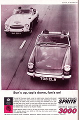 BMC Austin Healey (Clanger's England) Tags: 1963 london motorshow ad classiccar