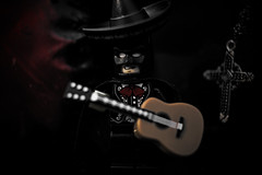 Mariachi Batman (Silverio Photography) Tags: batman lego minifig dc humor toy canon 24mm pancake photoshop elements topaz adjust hdr