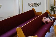 (whaynedmg) Tags: documentary church sonya711 sleeping churchpew candid streetphotog