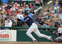 Dante Bichette Jr. (NJ Baseball) Tags: 2016 trenton newjersey minorleagues easternleague doublea trentonthunder binghamtonmets nightgame dantebichettejr batting