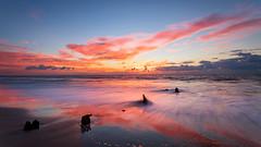Remnants (Travis Rhoads) Tags: 2016 beach canonef1740f4l carolinabeach clouds coastal copyright2016 dawn filters landscapephotography lee3stopnd leefoundationkit metaboneseftoeivt nikcollectionbygoogle northcarolina ocean reflections seawallruins sonyilce7rm2a7rii sunrise travisrhoadsphotography