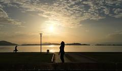 Sunset in Fethiye (VillaRhapsody) Tags: sunset fethiye sea mediterranean sun woman silhouette walking