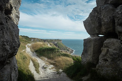 Between A Rock & A Nice Place (NVOXVII) Tags: coast cliff landscape view nikon dorset portland outdoor exploring rocks