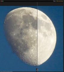 Affinity Haze Removal Split Screen-2 (Chic Bee) Tags: moon sunset skybackground tishabav moondetail canonsx60hs camera zoomlens tucson arizona southwesternusa america summermonsoon affinityhazeremoval postprocessing