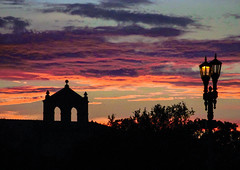 LSU Skyline at Dusk (faraway3000) Tags: lsu batonrouge sunset campus