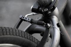 Macro Mondays - Summer Olympic Sports (Exdeltalady) Tags: cycling macro summerolympicsports macromondays bicycle bike calaper brakes blackandwhite monochrome sport
