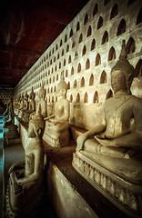 Laos, Vientiane : Wat Si Saket #3 (foto_morgana) Tags: analogphotography analogefotografie asia belief buddhastatue buddhism cloister indochina laos lightroom nikoncoolscan outdoor photographieanalogue religion tourism travelexperience vuescan watsisaket