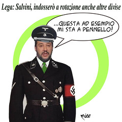 Salvini in Divisa (Moise-Creativo Galattico) Tags: editoriali moise moiseditoriali editorialiafumetti giornalismo attualit satira vignette salvini divisa nazi