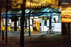 Max - Public Transit - 50 1.8 AIS (pillarsoflight) Tags: portland pdx oregon city pnw beauty apsc crop sensor nikon d3300 50mm 18 ais filmlens classicaperture prime lightroom adobe shotonsandisk sandisk apple imac pacificnorthwest nik orange blue silver reflection trees glass max transit publictransit pavement motion