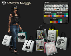 [Since1975] Shopping Bag ([ Since 1975 ]) Tags: shopping bag sl secondlife second life mesh channel is home other since 1975 whore couture