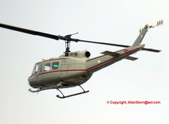 "US State Dept's UH-1H N465WC (Serial 74-22465) as ""DOS 465"" at Patrick AFB, 13 Oct 2016 (allanstern@aol.com) Tags: uh1h huey helicopter"