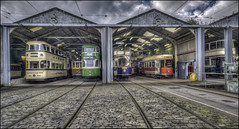 Crich Tramway Village Station (Darwinsgift) Tags: crich tramway village national tram museum matlock derbyshire hdr photomatix 20mm f35 voigtlander color skopar sl ii nikon d810