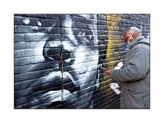 Street Art (Dreph), South East London, England. (Joseph O'Malley64) Tags: dreph muhammedali streetart urbanart graffiti southeastlondon london england uk britain british greatbritain art artist artistry artwork mural muralist wallmural wall walls brickwork pointing aerosol cans spray paint