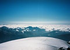 (Nikolay Kulivets) Tags: 35mm film olympusmjuii mjuii kodak georgia caucasus kazbek alpinism clouds snow