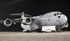 ZZ172 Royal Air Force Boeing C-17A Globemaster III @ Exeter Airport, Devon. (Cornish Aviation) Tags: zz172 royal air force boeing c17a globemaster iii exeter airport devon c17 military airplane aircraft avgeek aviation