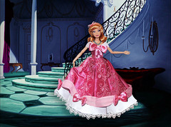 """""""Isn't it lovely? Do you like it? Do you think it will do?"""" (They Call Me Obsessed) Tags: cinderella doll dolls barbie 2016 designer fairytale collection heros villains princesses princess royal classic pink dress dfdc movie accurate disney store new rare limited edition ooak photoshop lady tremaine good mothers clip"""