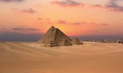 (Moataz Al-Hussaini) Tags: pyramids giza pyramidsofgiza egypt cairo travel landscape architechture city cityscape desert nature photography photograph buildings sunset sky clouds cloud landscapes