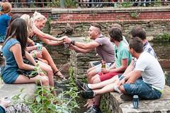 Tramlines 2013 (Roger Hanuk) Tags: groupofpeople beer canal drinking england everlypregnantbrothers fatcat festival kelhamisland men sheffield southyorkshire tramlines women young unitedkingdom