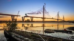 Queensferry Crossing (Paul S Ewing) Tags: firth forth queensferrycrossing edinburgh scotland sunrise dawn bridge suspension