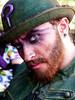 The Riddler (J Wells S) Tags: theriddler batman supervillain americancomicbooks dccomics portrait cincinnaticomicexpo dukeenergycenter cincinnati ohio cosplay costume dressup bowlerhat beard candidportrait