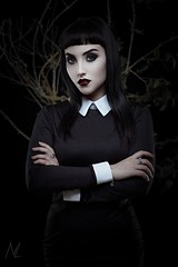 Halloween mood (n_lev44) Tags: ifttt 500px young adult attractive beautiful beauty black branches closeup copy space cosmetics creepy elegance girl gothic halloween lady makeup model mysterious pale skin portrait serious sexy studio style woman