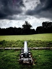The Battle against the Storm (CMF1983) Tags: dorset nationaltrust kingstonlacy d3300 nikon battle autumn storm grass sky clouds gun war canon