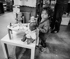 It's Candy time / c'est l'heure du goter;) (jeanclaude-Betapixel) Tags: child enfance tolrance accueil jeu dinette diffrence noiretblanc blackandwhite flickrunited lumixgx8