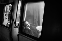 A Long Day (Geoff Livingston) Tags: man sleeping african american life portrait commute tired fatigue