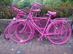 Pink Bikes (mkorsakov) Tags: mnster city innenstadt hbf bahnhof fahrrad bike bicycle pink wtf bikeart germpel trash bikebusting