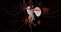 674  Bloody Angel (Sannita_Cortes) Tags: secondlife sl styles virtualworld virtual virtualfashion fashion female tableauvivant ikon sheadesigns it indulgetemptation fuckingnijas madgirlninjas halloween angel blood bloodangel