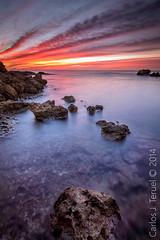 Amanecer (Carlos J. Teruel) Tags: nikon mediterraneo tokina murcia amanecer nubes rocas inverso marinas filtros gnd xaviersam carlosjteruel d800e badpter