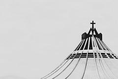 Basílica de Guadalupe (APshot) Tags: city sky blackandwhite church architecture canon mexico religion minimal backlighting basílicadeguadalupe