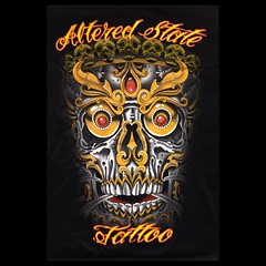Shirts are in come get some!!!! $20 all sizes #alteredstatetattoo #kapalaskull