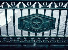 ★ (miemo) Tags: travel bridge winter ice water fence river stpetersburg star europe russia decoration olympus soviet castiron omd neva em5 palacebridge dvortsoviymost panasonic1235mmf28