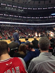 "Bulls Game from the First Row • <a style=""font-size:0.8em;"" href=""http://www.flickr.com/photos/109120354@N07/15666521509/"" target=""_blank"">View on Flickr</a>"