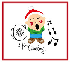 'C' is for Caroling (ellzwilkinsondesign) Tags: christmas family music art illustration festive typography design friend graphic notes card gift presents sing carol greeting caroling caroler