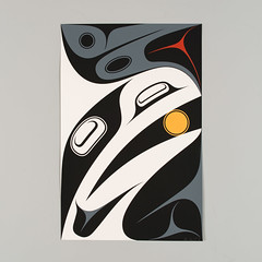 Just About (Douglas Reynolds Gallery) Tags: art print coast artwork northwest native silkscreen firstnations prints raven edition limitededition ravens northwestcoast haida editions serigraph silkscreens bendavidson justabout silkscreened serigraphs