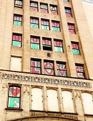 love (ekelly80) Tags: thanksgiving windows streetart art love hearts graffiti michigan detroit oldbuilding metropolitanbuilding johnr thed ruinporn november2014
