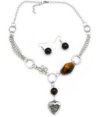 5th Avenue Brown Necklace P2310-4