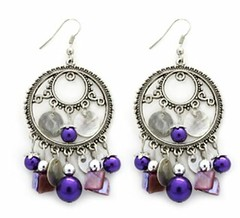 Glimpse of Malibu Purple Earrings P5420A-5