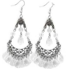 5th Avenue White Earrings P5611A-1