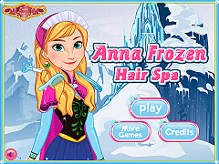 冰雪公主安娜髮型SPA(Anna Frozen Hair Spa)