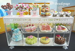 Miniature Bakery Set (https://www.etsy.com/shop/KawaiiCraftCottage) Tags: party food cute cakes shop set miniatures miniature store cafe doll dolls counter display cabinet handmade fake patisserie bakery kawaii pastry faux showcase parlor assorted whimsical dollhouse