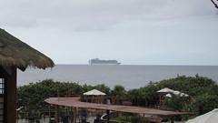 Ruby Princess coming into port. (Whitey's Pics) Tags: cruiseship roatan medialuna rubyprincess whiteyspics
