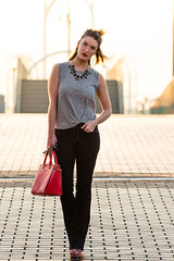 Maxime (McSlothin) Tags: street new sunset urban fashion female bag rouge golden michael outfit model orleans louisiana purse hour nola baton streetwear kors